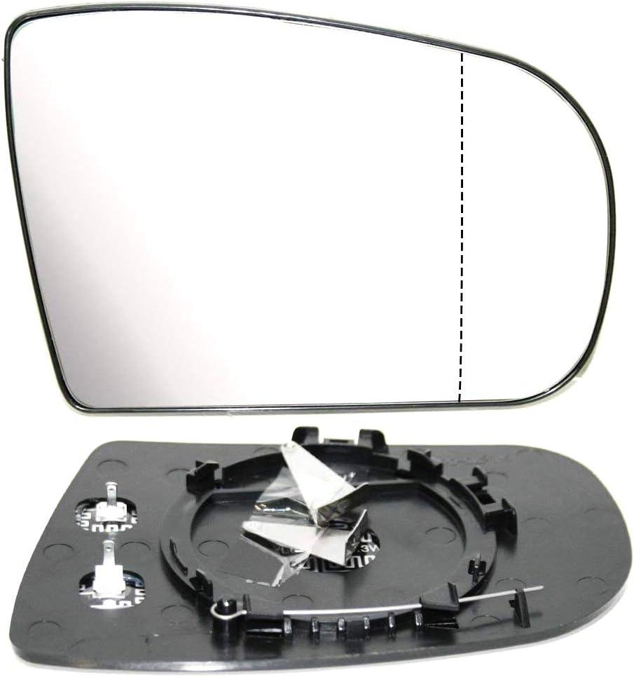Au/ßenspiegel Spiegelglas Spiegel Glas Ersatzglas Beheizbar Heizung Weitwinkel Rechts Kompatibel mit E-Klasse W210 1999-2003 OEM A2028100421