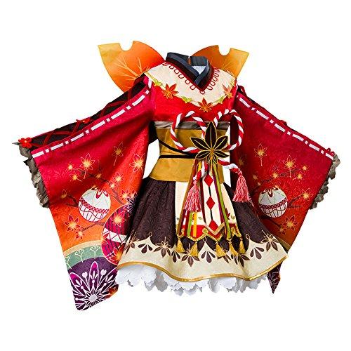 Costhat Love Live!Aqours Kunikida Hanamaru Autumn Viewing Cosplay Costume Kimono Dress by Costhat (Image #3)