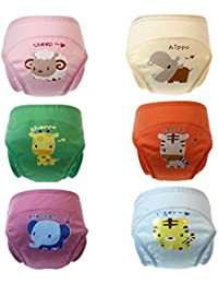 2017 New Anti Leakage Baby Toddler Cute 4 Layers Potty Training Pants Reusable