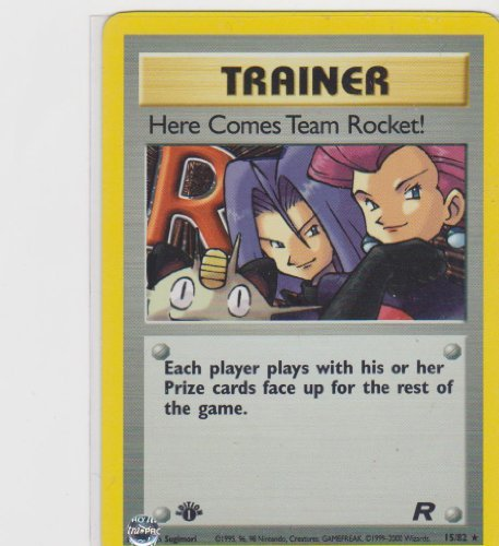 - Here Comes Team Rocket! - 15/82 - Holo Rare - 1st Edition