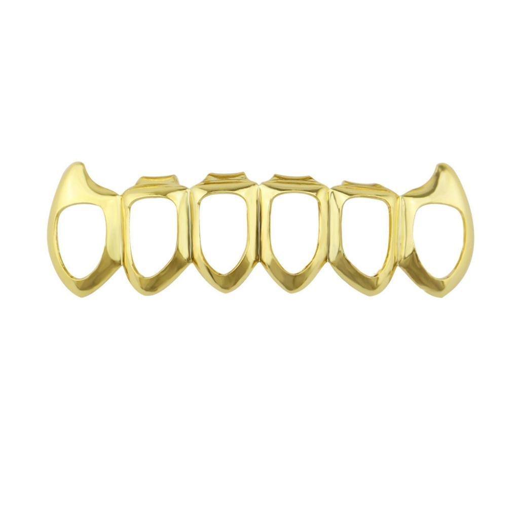 Inkach Denture Teeth, Hip Hop Cosmetic Upper Teeth Veneer Dental Grills Teeth Denture Model (B)