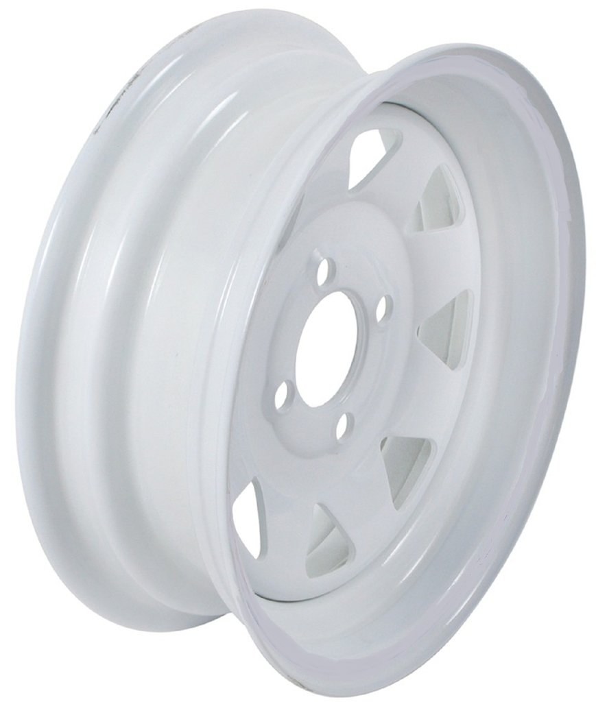 eCustomRim 2-Pack Trailer Wheel White Rims 13 x 4.5 Spoke Style 4 Lug On 4 in. Center