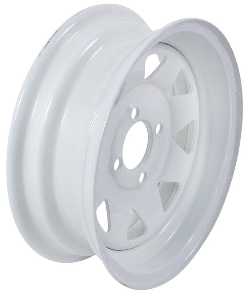 Center 2-Pack Trailer Wheel White Rims 13 x 4.5 Spoke Style 4 Lug On 4 in