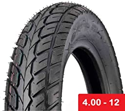Scooter Tubeless Tire 4.00 - 12 Front Rear Motorcycle Moped 12\