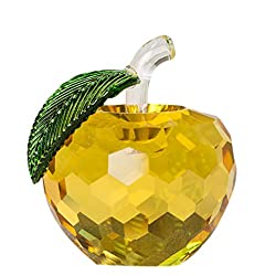 Yellow Crystal Apple Home Decoration