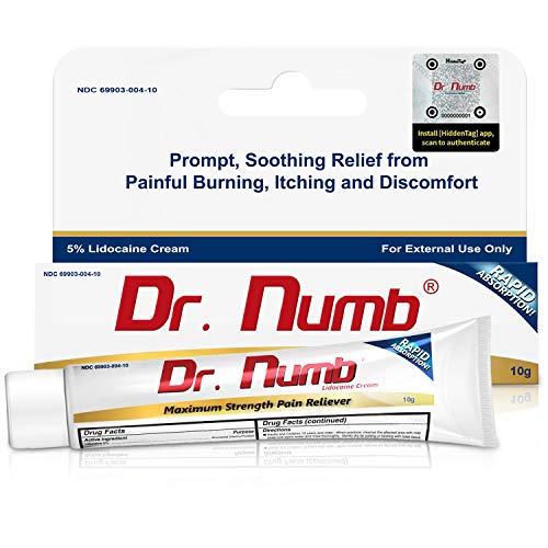 1 Tube of Dr. Numb Maximum Topical Anesthetic Anorectal Cream