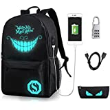 GAOAG Anime Luminous Backpack Daypack Under 15.6 inch with USB Charging Port and Lock School Bag (cn-1)