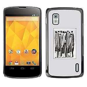 TopCaseStore / la caja del caucho duro de la cubierta de protección de la piel - Meaning Watercolor Abstract Businessman - LG Google Nexus 4 E960