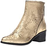 Dolce Vita Women's Cassius Ankle Boot, Gold Leather, 9 Medium US