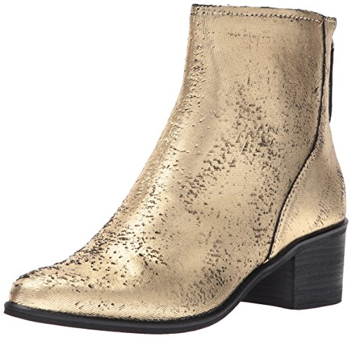 Dolce Vita Women's Cassius Ankle Boot, Gold Leather, 10 Medium US