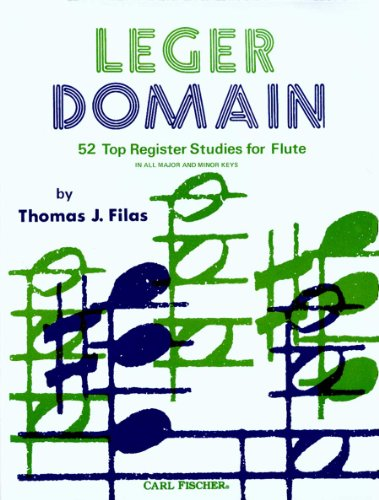 Leger Domain   52 Register Studies For Flute    In All Major And Minor Keys