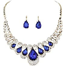 iLH® Clearance Deals Necklace+Earrings Jewelry Set Womens Mixed Style Bohemia Color Bib Chain Necklace Earrings Jewelry by ZYooh