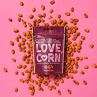 LOVE CORN: Barbecue (BBQ) | Roasted Crunchy Corn - Gluten-Free - Plant based & Vegan - Healthy Snack - Low Calorie - Non GMO - (Box of 10 bags, 1.6oz each)