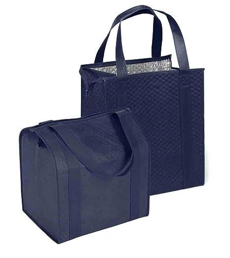 Amazon.com: Grande Hannah aislante bolsa de la compra, azul ...