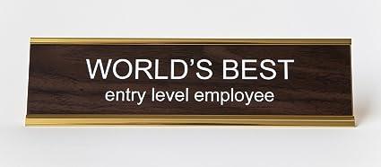 amazon com world s best entry level employee engraved office