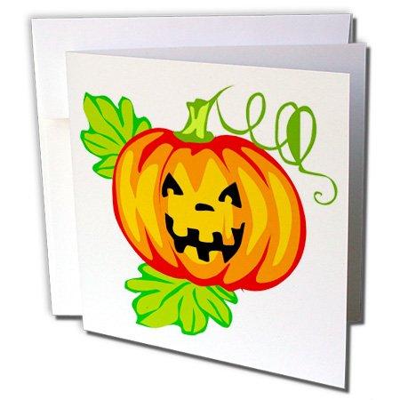3dRose Halloween Jackolantern - Greeting Cards, 6 x 6 inches, set of 12 (gc_131271_2)]()