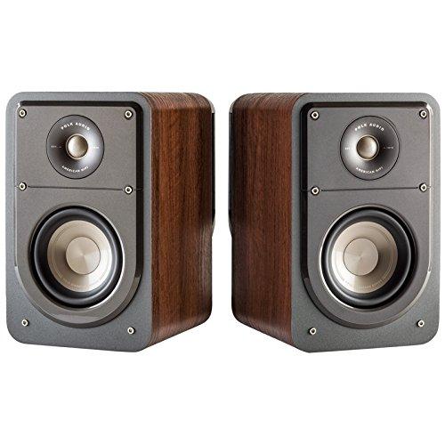Polk Audio Signature Series S15 American Hi-Fi Home Theater Small Bookshelf Speakers - Pair (Classic Brown Walnut) by Polk Audio