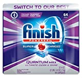 Finish Quantum Max Powerball, 64ct, Dishwasher Detergent Tablets Ultimate Clea фото