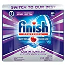 Finish Quantum Max Powerball, 64ct, Dishwasher Detergent Tablets Ultimate Clean & Shine