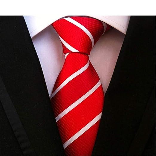 NSLDQ Corbata Hombres 8 cm Corbata Rayada púrpura Que Casan el ...
