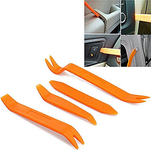 Universal Car Dashboard Door Audio Removal Installer Clip Pry Tool Panel Molding Clip Trim Open Plastic Pry Tool Set 4PCS. (Clips Panel Molding)