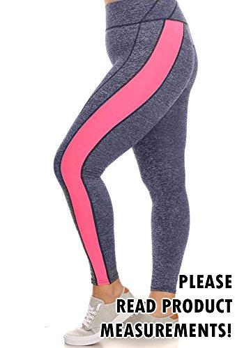 Womens Active Leggings Stripe Exercise
