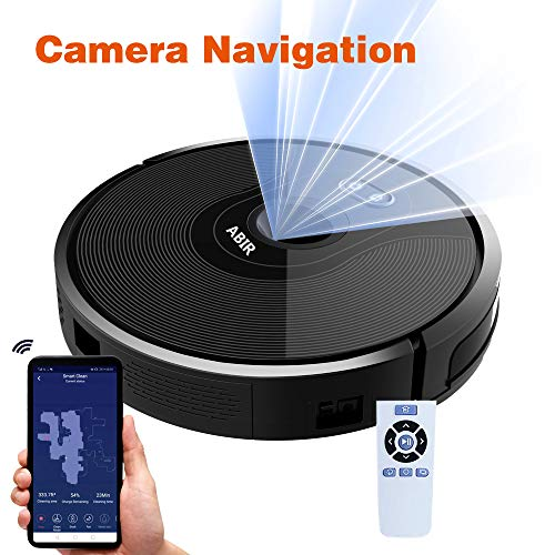X6 VSLAM Camera Robot Vacuum Cleaner, 1800Pa Suction, 360° Smart Sensor Protection, Quiet, Self Charge, WiFi Remote App Control, 2600mAh Super Thin Robotic Vacuum for Pet Hair, Hard Floor,Carpet
