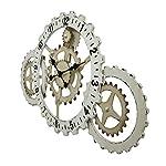 Things2Die4 Industrial Gears Wood and Metal Steampunk Style Wall Clock 7