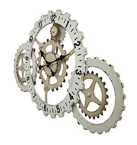 Things2Die4 Industrial Gears Wood and Metal Steampunk Style Wall Clock 4