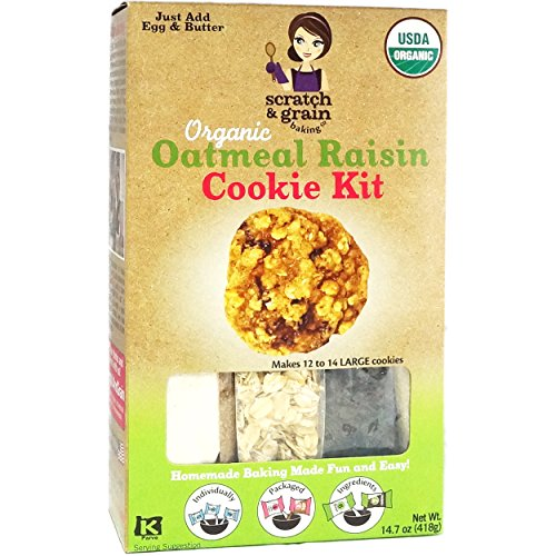 Organic Cookie Mix (Scratch & Grain Baking Co. All Natural Cookie Kit Oatmeal Raisin)