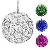 LED Concepts SLR-LED-BALL Solar Hanging Sparkling Crystal Ball