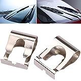 Ecosin 2 Pcs Windscreen Wiper Linkage Motor Repair Clips 2 Pcs Chrome For FIAT Punto MK1 MK2 176 188