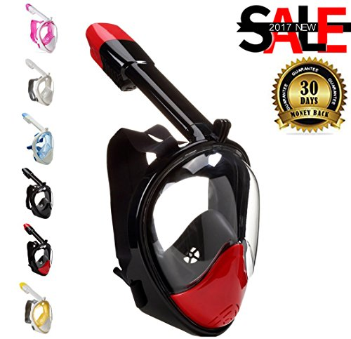 Scuba Diving Mask 180° View Full Face with Anti-fog and A...