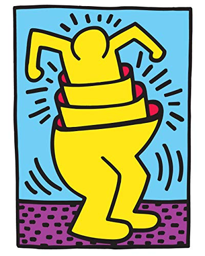 BLIK Surface Graphics Keith Haring Nesting Man, Officially Licensed 27-inch by 37-inch Removable Wall Decal, Made in USA - Blik Wall Decals