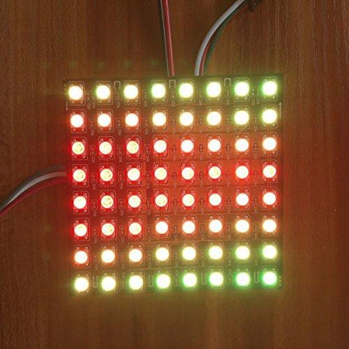 for Arduino Kuman 8x8 RGB LED Flexible WS2812B 5050 Matrix