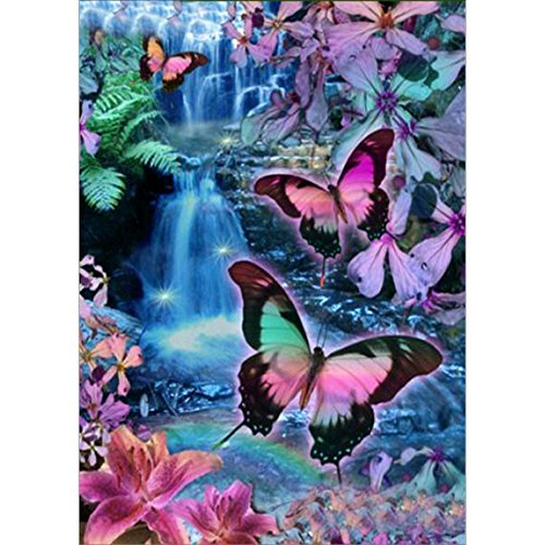 Adarl 5D DIY Diamond Painting Rhinestone Butterfly Valley Pictures Of Crystals Diamond Dotz Kits Arts, Crafts & Sewing Cross Stitch