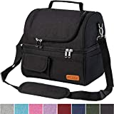 Insulated Lunch Bag Dual Compartment, Leakproof 22 Can Large Lunch Box for Men