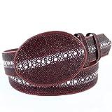 Original Burgundy Full Rowstone StingRay Skin Western Style Belt