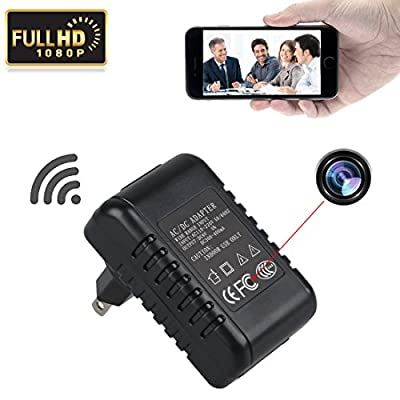 GZDL HD 1080P P2P WiFi Hidden Camera Adapter Wall AC Plug Charger Spy IP Camera Video Recorder Indoor DV Camcorder Support IOS Android Smartphone APP Remote View by Dinglin