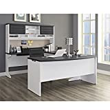 Ameriwood Home Pursuit U-Shaped Desk with Hutch Bundle, Gray