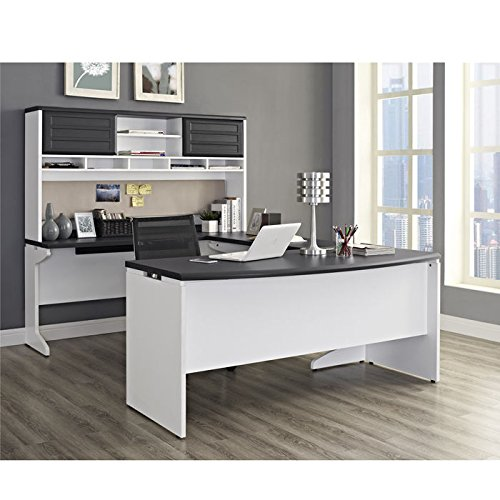 Ameriwood Home Pursuit U-Shaped Desk with Hutch Bundle, Gray by Ameriwood Home