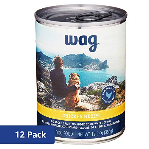 Wag Wet Dog Food, Chicken Recipe, 12.5 oz Can (Pack of 12)
