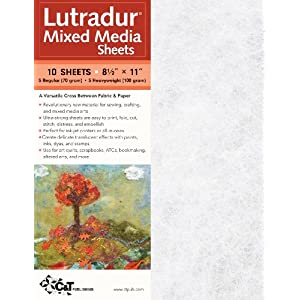 C&T PUBLISHING Lutradur Mixed Media Sheets, 8.5″ x 11″ – Package of 10