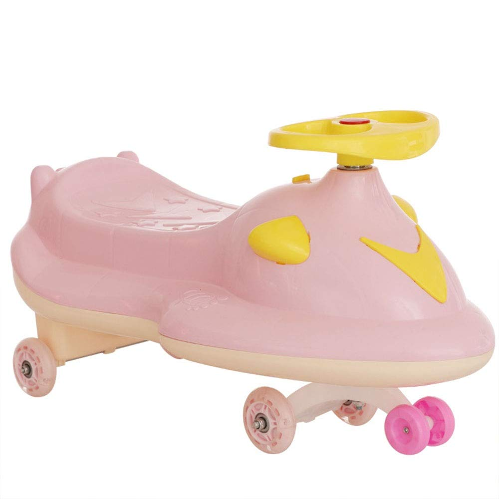 Wiggle Scooter Car Ambulance Car Ride On Toy Wiggle Car by Lil' Rider– Ride On Toys for Boys and Girls 2 Year Old and Up (Color : Pink, Size : 703630CM)
