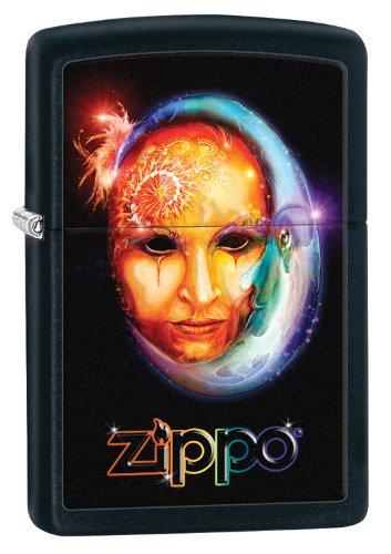 - Zippo Face Lighter, Black Matte