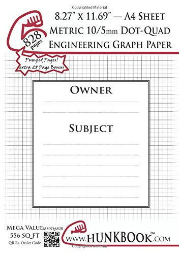 Read Online Engineering Graph Paper (MS0QA-828 pages): Metric 10/5mm Dot-Quadrille - A4 Sheet pdf