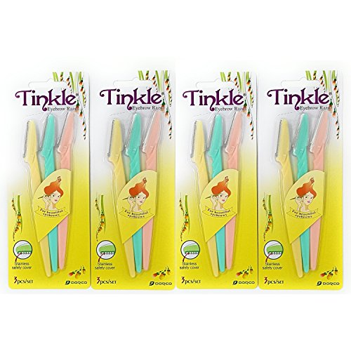 (Tinkle Eyebrow Razor - 12 Pieces)