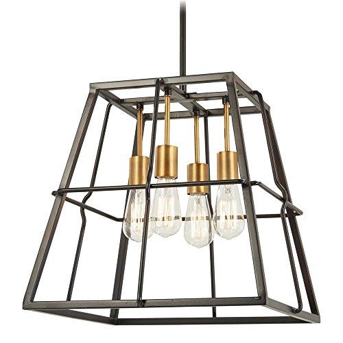 Minka Lavery Pendant Ceiling Lighting 4763-416 Keeley Calle, 4-Light 240 Watts, Painted Bronze