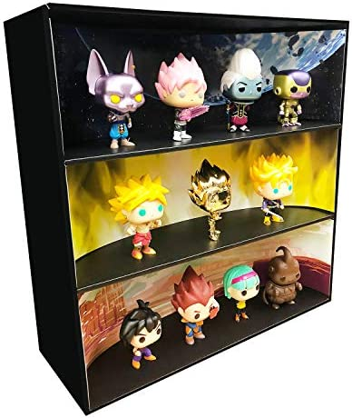 Themed Display Geek Stackable Toy Shelf for 4 in. Vinyl Collectibles3 Backdrop Inserts Black Corrugated Cardboard / Themed Display Geek Stackable Toy Shelf for 4 in. Vinyl Collectibles3 Backdrop Inserts Black Corrugated Cardboard