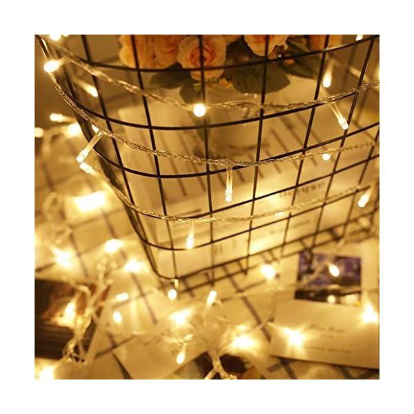 Uping Catena Luminosa Stringa di Luci 300 LED, per Festa Giardino Natale Halloween Matrimonio(Bianca Calda) 2 spesavip